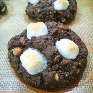 Rocky Road Cookie baked by Mamalou Bakeshop in Corvallis, Oregon