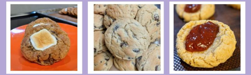 banner of a mix of photographs of cookies